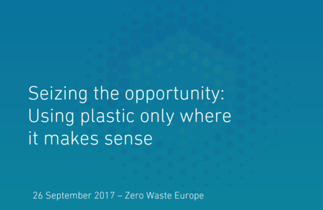 Using plastic only when it makes sense
